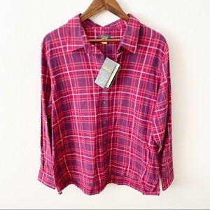 Cabela's NWT | Pink and Purple Flannel Top | XL